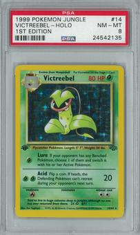 Pokemon Jungle 1st edition Victreebel 14/64 Holo Rare PSA 8