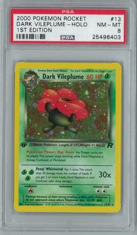 Pokemon Team Rocket 1st Edition Dark Vileplume 13/82 Holo Rare PSA 8