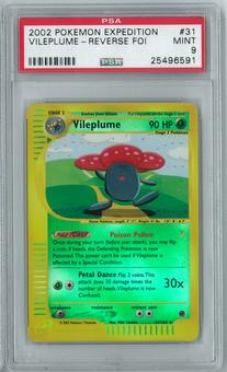 Pokemon Expedition Vileplume 31/165 Reverse Foil Rare PSA 9