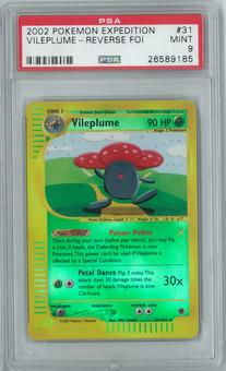 Pokemon Expedition Vileplume 31/165 Reverse Foil PSA 9
