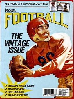 2015 Beckett Football Monthly Price Guide (#295 August) (Vintage Issue)
