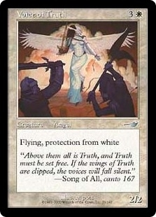 Magic the Gathering Nemesis Single Voice of Truth FOIL
