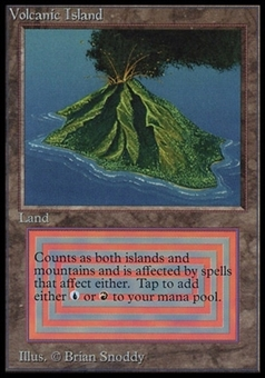 Magic the Gathering Beta International Collector's Edition Single Volcanic Island - NEAR MINT (NM)