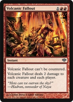 Magic the Gathering Conflux Single Volcanic Fallout Foil