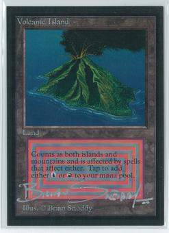 Magic the Gathering Beta Artist Proof Volcanic Island - SIGNED BY BRIAN SNODDY
