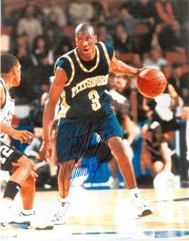 Vonteego Cummings Autographed University of Pittsburgh Panthers 8x10 Photo (Press Pass)