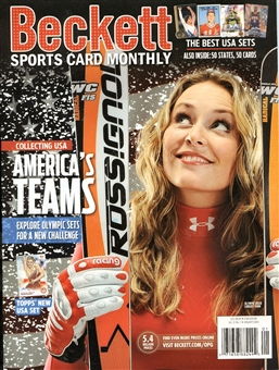 2014 Beckett Sports Card Monthly Price Guide (#346 Janruary) (Lindsey Vonn)