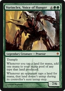 Magic the Gathering New Phyrexia Single Vorinclex, Voice of Hunger Foil - SLIGHT PLAY (SP)