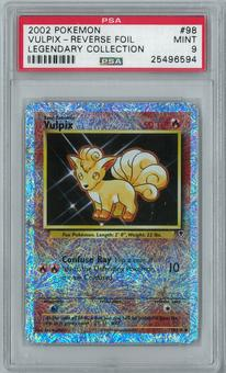 Pokemon Legendary Collection Vulpix 98/110 Common - Reverse Foil PSA 9