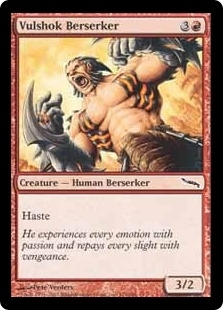 Magic the Gathering Mirrodin Single Vulshok Berserker FOIL