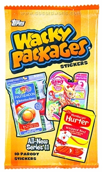 Wacky Packages Series 11 Trading Cards Stickers Pack (Topps 2013)