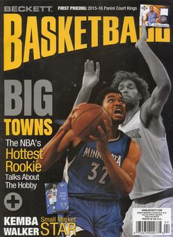 2016 Beckett Basketball Monthly Price Guide (#283 April) (Karl-Anthony Towns)