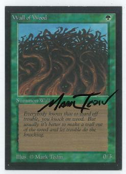 Magic the Gathering Beta Artist Proof Wall of Wood - SIGNED BY MARK TEDIN