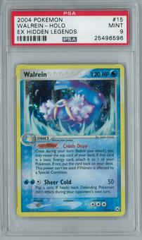 Pokemon EX Hidden Legends Walrein 15/101 Holo Rare PSA 9