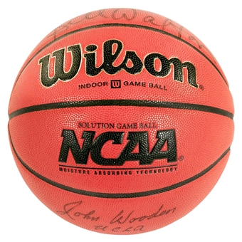 Bill Walton & John Wooden Autographed UCLA Bruins Official NCAA Basketball (Dave & Adam's COA)