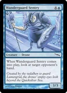 Magic the Gathering Mirrodin Single Wanderguard Sentry Foil