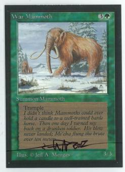 Magic the Gathering Beta Artist Proof War Mammoth - SIGNED BY JEFF A. MENGES