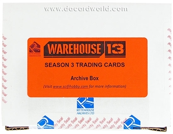 Warehouse 13 Season Three Premium Pack Trading Cards Archives Box (Rittenhouse 2012)
