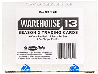 Warehouse 13 Season Three Premium Pack Trading Cards Box (Rittenhouse 2012)