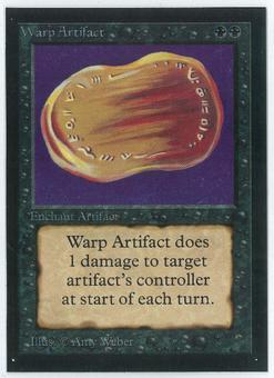 Magic the Gathering Beta Artist Proof Warp Artifact - SIGNED BY AMY WEBER
