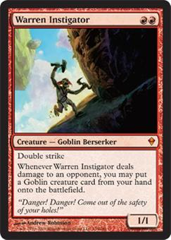 Magic the Gathering Zendikar Single Warren Instigator Foil
