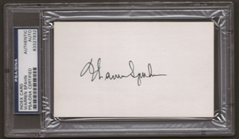 Warren Spahn Autograph (Index Card) PSA/DNA Certified *7932