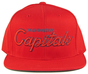 Washington Capitals Reebok Red Script Snapback Adjustable Hat (One Size Fits All)