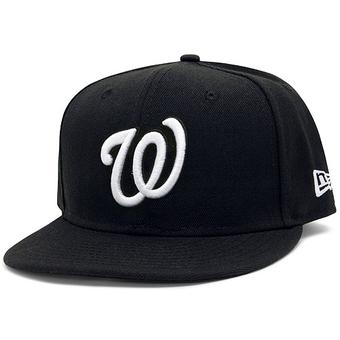 Washington Nationals New Era 59Fifty Fitted Black Hat