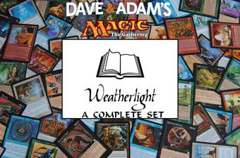 Magic the Gathering Weatherlight A Complete Set - NEAR MINT / SLIGHT PLAY (NM/SP)