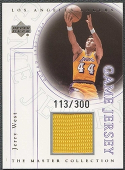2000 Upper Deck Lakers Master Collection Game Jerseys #JWJ Jerry West 113/300