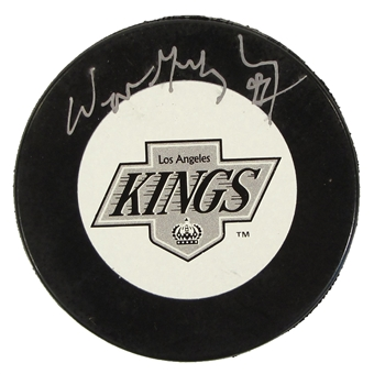 Wayne Gretzky Autographed Los Angeles Kings Official Puck (WGA)