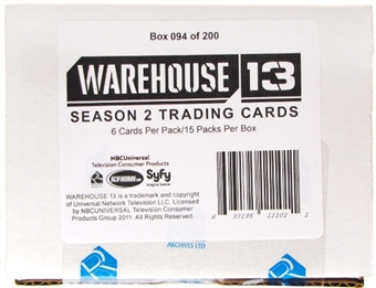 Warehouse 13 Season Two Premium Pack Trading Cards Box (Rittenhouse 2011)