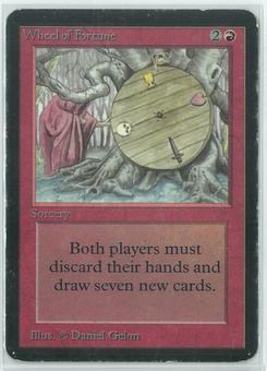 Magic the Gathering Alpha Single Wheel of Fortune - MODERATE/HEAVY PLAY (MP/HP)