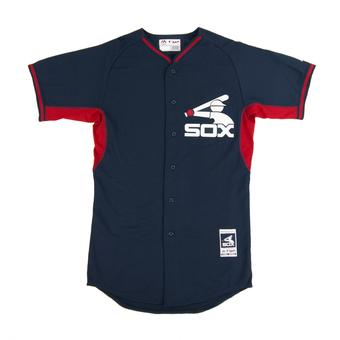 Chicago White Sox Majestic Navy Retro BP Cool Base Authentic Performance Jersey (Adult 52)
