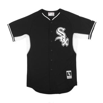 Chicago White Sox Majestic Black BP Cool Base Authentic Performance Jersey (Adult 44)