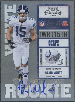 2010 Playoff Contenders #106 Blair White /75 Rookie Autograph