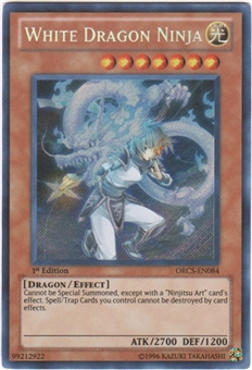 Yu-Gi-Oh Order of Chaos Single White Dragon Ninja Secret Rare - NEAR MINT (NM)
