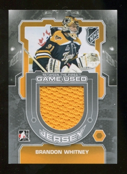 2012/13 In the Game Between The Pipes Jerseys Silver #M59 Brandon Whitney /140