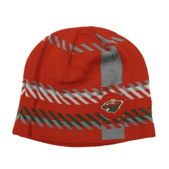 Minnesota Wild Old Time Hockey Red Bolgar Beanie Knit Hat (Adult OSFA)
