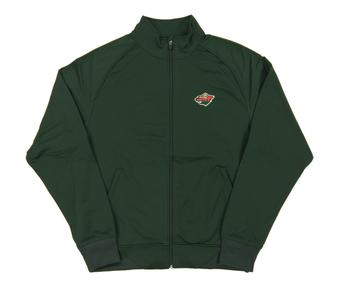 Minnesota Wild Level Wear Chaser Green Performance Full Zip Track Jacket (Adult M)