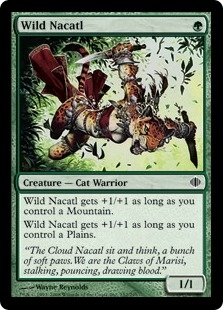 Magic the Gathering Shards of Alara Single Wild Nacatl Foil