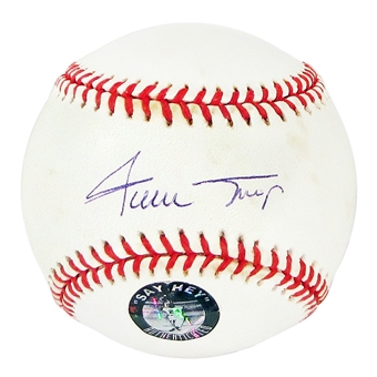 Willie Mays Autographed Official MLB Baseball (Say Hey & Mounted Mem. COA)