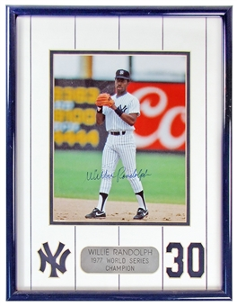 Willie Randolph Autographed NY Yankees Framed 8X10 (Double Matted) Photo (JSA)