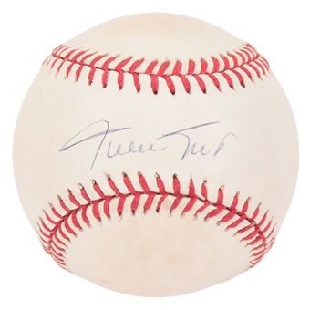 Willie Mays Autographed San Francisco Giants NL MLB Baseball (JSA letter) X50935