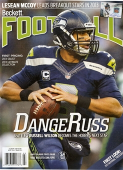 2014 Beckett Football Monthly Price Guide (#278 March) (Russell Wilson)