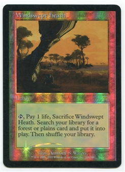 Magic the Gathering Onslaught Single Windswept Heath FOIL - MODERATE PLAY (MP)