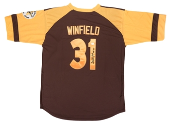 Dave Winfield Autographed San Diego Padres Baseball Jersey (JSA)