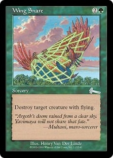 Magic the Gathering Urza's Legacy Single Wing Snare FOIL