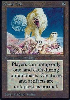 Magic the Gathering Alpha Single Winter Orb - MODERATE PLAY (MP)