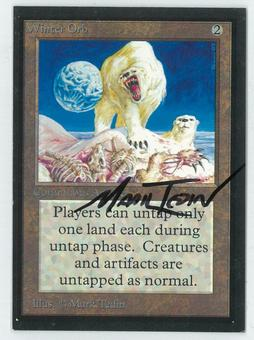 Magic the Gathering Beta Artist Proof Winter Orb - SIGNED BY MARK TEDIN